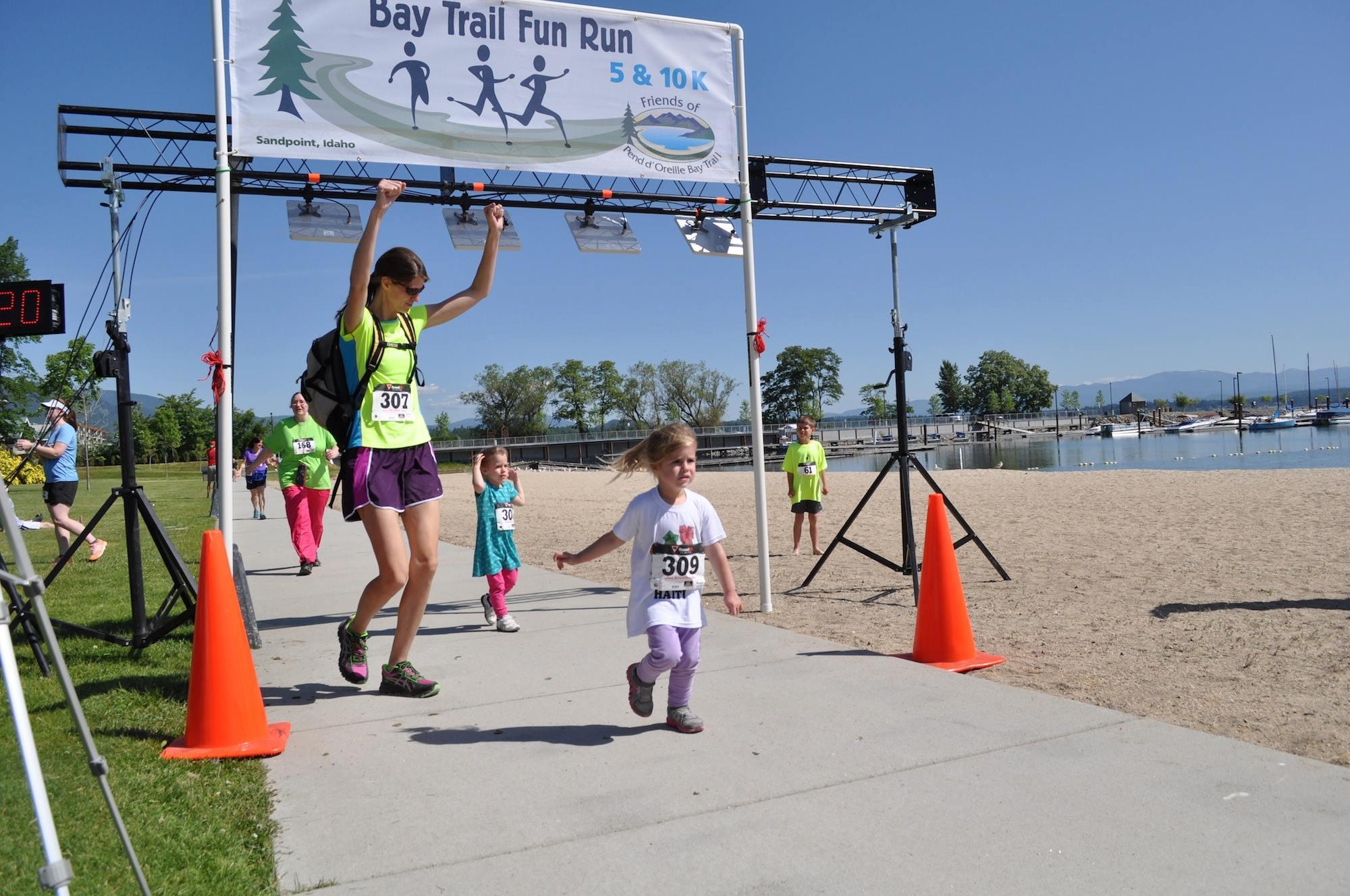 happy kids at finish line C Bessler