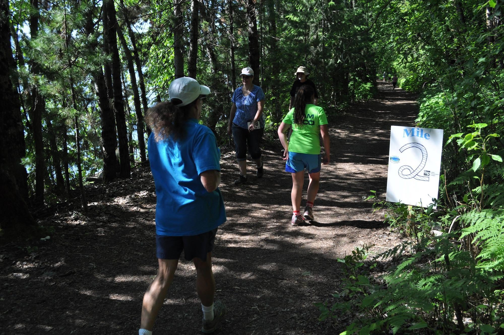 running on the trail, C Bessler