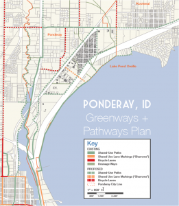 ponderay greenway and pathway plan